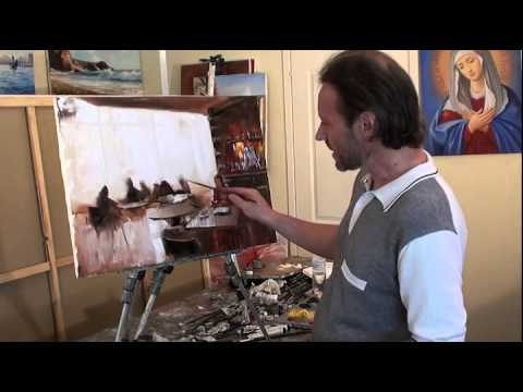 "FREE! Full video ""scene in a cafe"" painter Igor Sakharov"