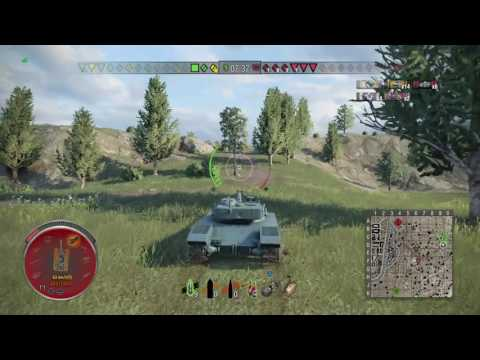 World of Tanks PS4 - Bat Chat 25t - HEILBRONN New Map - 7 kill and amazing bounce