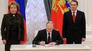 Putin firma la anexión de Crimea y Sebastopol a Rusia