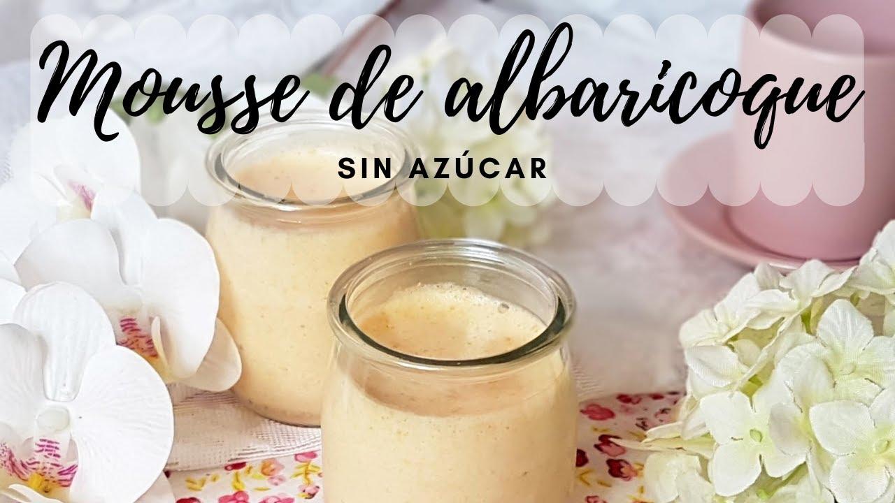Mousse de albaricoque sin azúcar