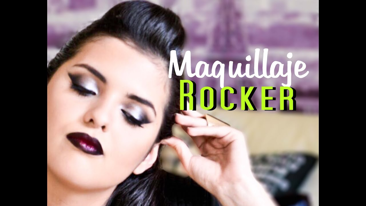 Tutorial Convierte En Rock And Roll Tu Maquillaje Youtube