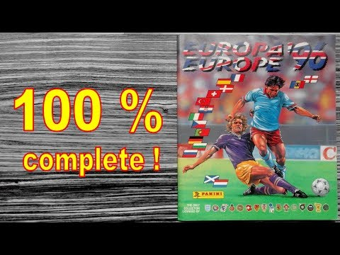 "Panini Album UEFA Euro ""Europe 96"" England - 100 % COMPLETE / FULL"