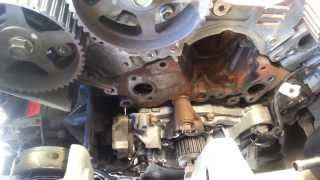 last vr4 built timing belt tensioner and water pump removal