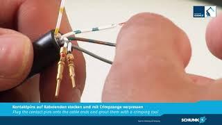 Montagevideo Kabelstecker KAS für elektrische Durchführungsmodule