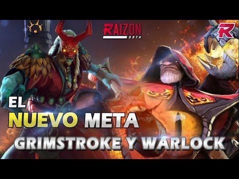El nuevo META: Grimstroke y  Warlock (el combo de Supports) - Raizon Dota