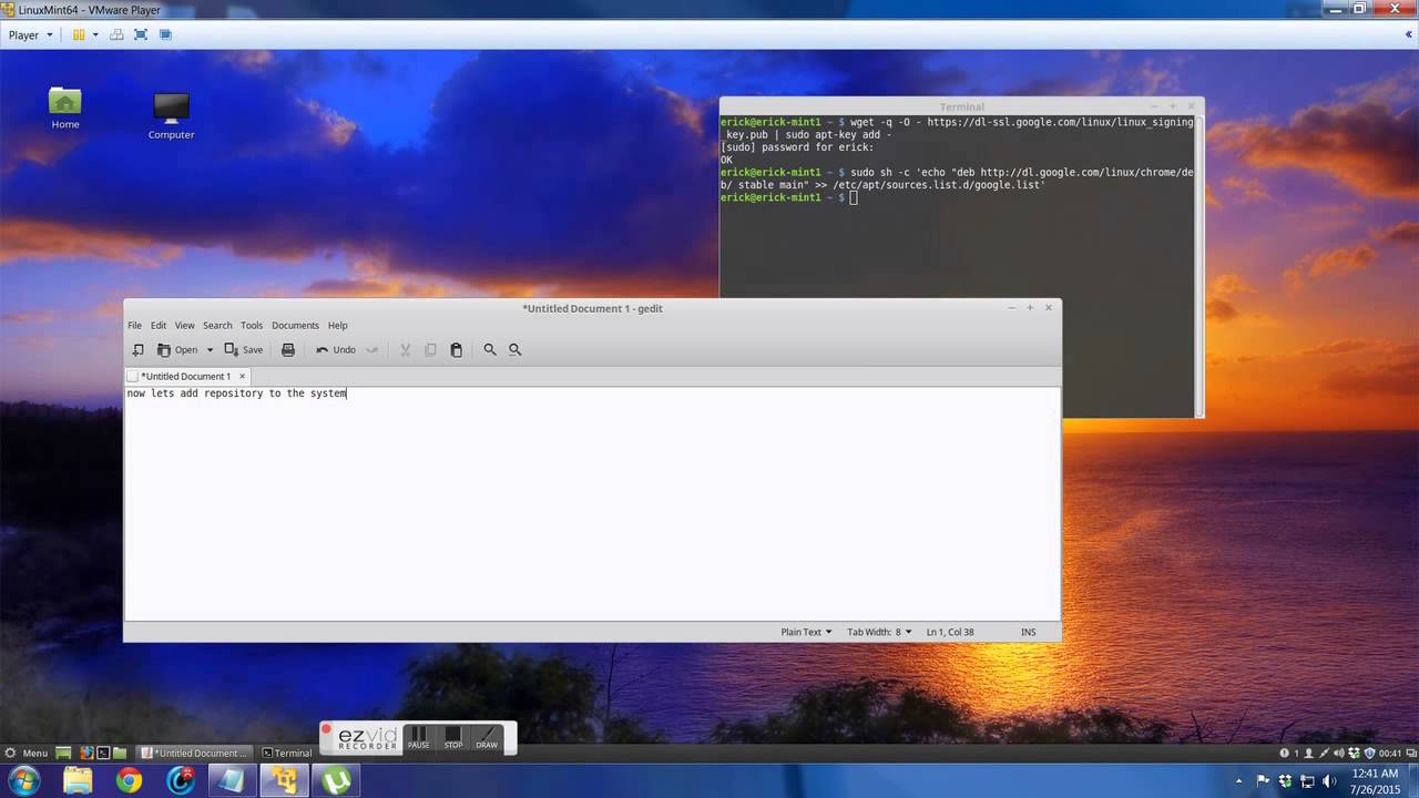 How to install and use google chrome browser in linux mint.