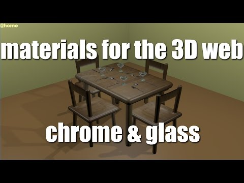 Materials For 3D Web Content, blend4web Material Library - Chrome & Glass Plus Reflections & Shadows