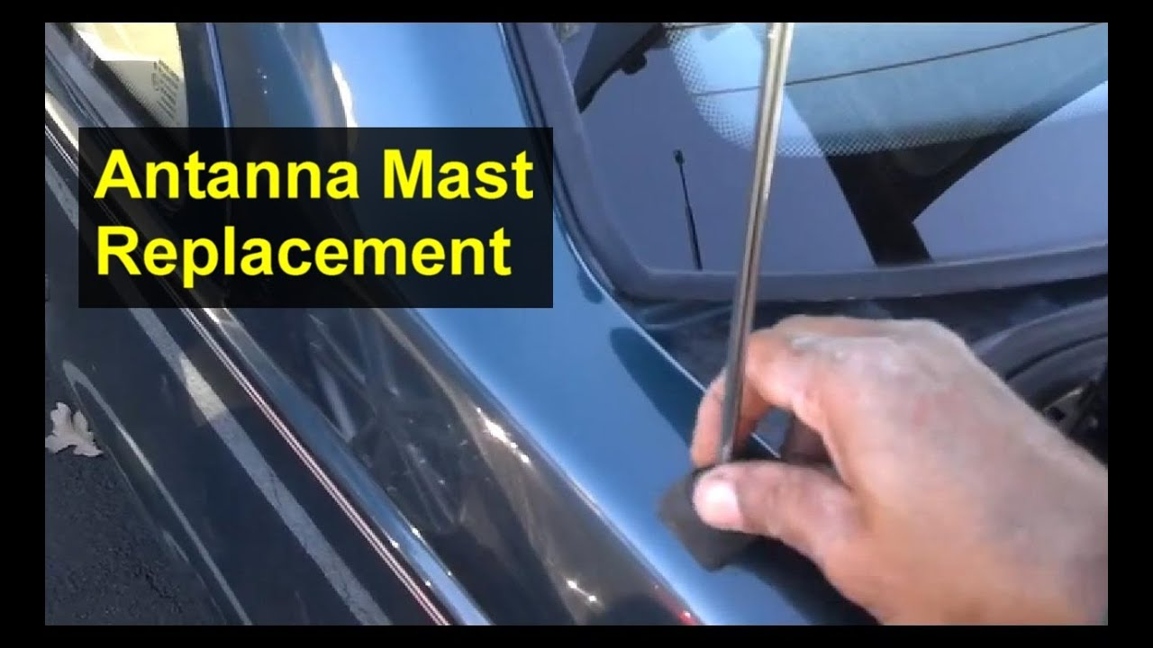 Antenna Mast Replacement, Volvo 850, S70, and other cars  Auto Repair Series  YouTube