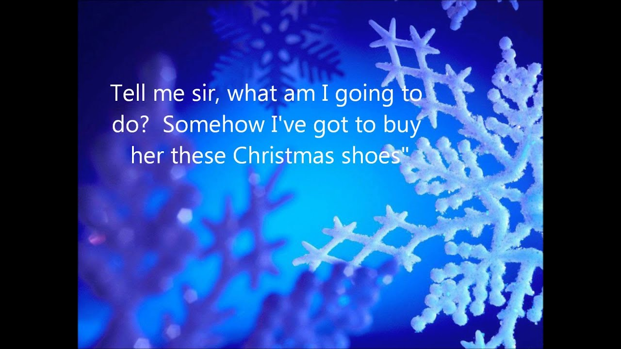 The Christmas Shoes Lyrics - YouTube