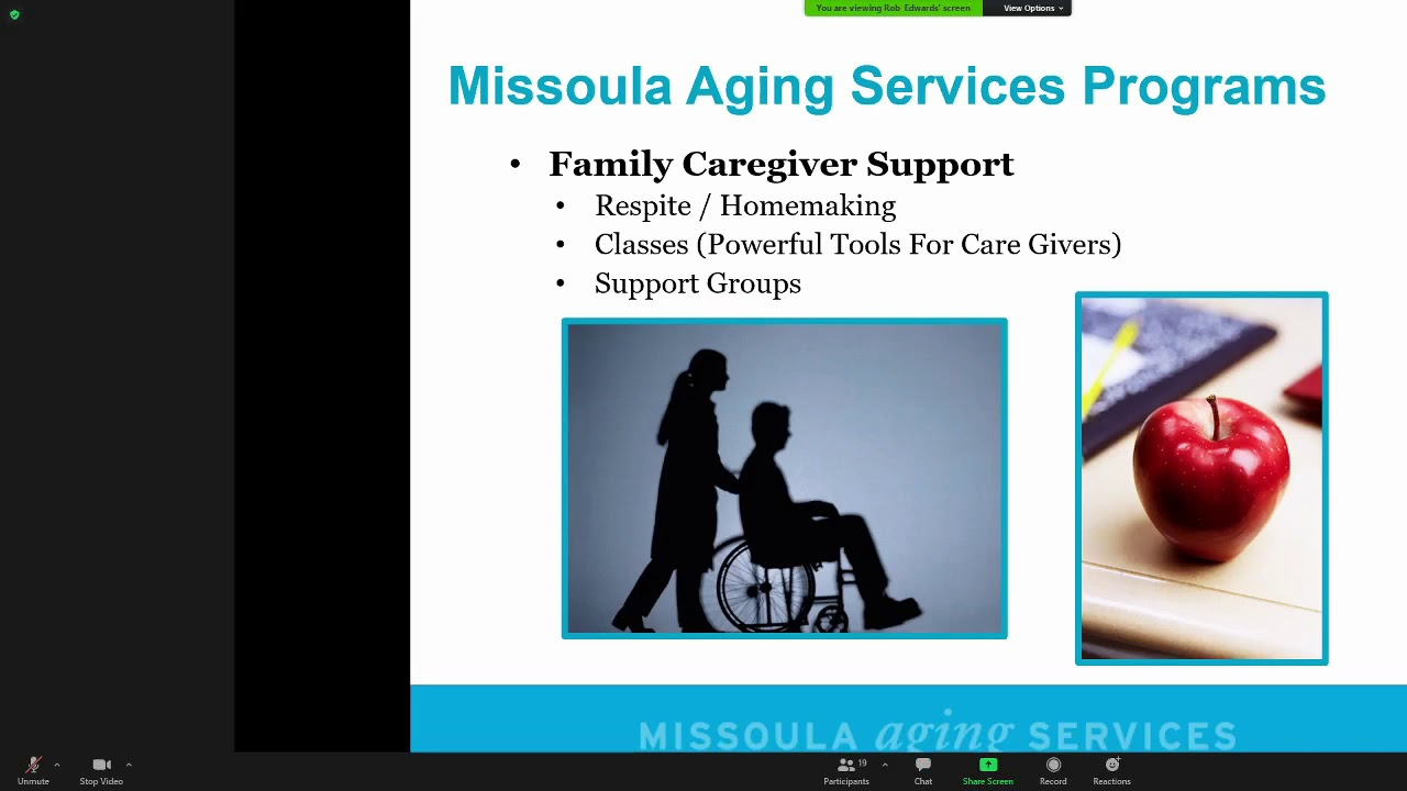 Rob Edwards, Missoula Aging Services	Nutrition for Seniors. 1-27-21