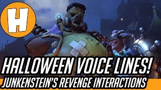 Overwatch - Halloween New Brawl Interactions and Voicelines!