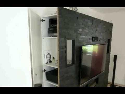 deko-steinwand-wohnzimmer-schöne