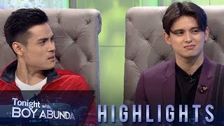 TWBA: Xian and James answer, 'who has a bigger shoe size'