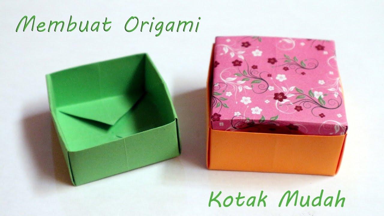 Cara membuat origami kotak sederhana origami kotak box