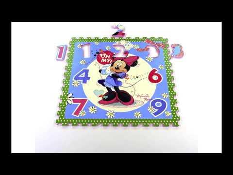 Tatamiz Tapis Puzzle Minnie Bowtique Vert Youtube