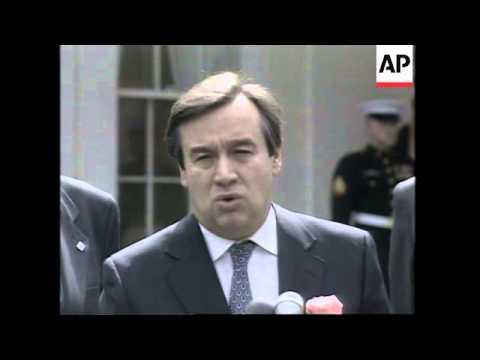 USA: WASHINGTON: PORTUGAL'S PRIME MINISTER ANTONIO GUTERRES VISIT