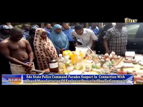 Explosion in Okpella: Edo Police parades suspect