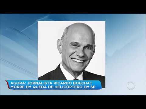 Jornalista Ricardo Boechat morre em queda de helicóptero nesta segunda (11)