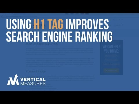 Using H1 Tag Improves Search Engine Ranking