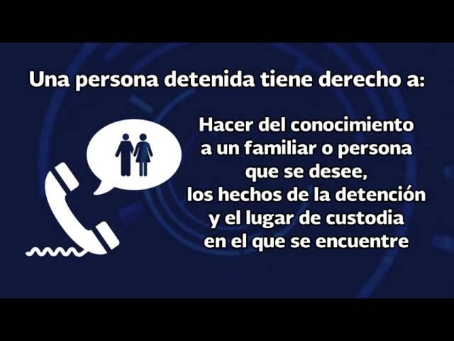 Cartilla de Derechos que Asisten a las Personas en Detención