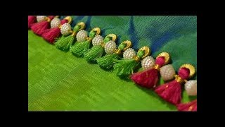 New Pattu saree Kuchu designs | latest saree kuchulu designs | simple Saree Kuchu Tassel Designs