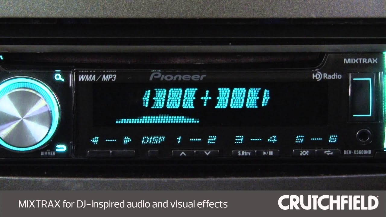 small resolution of pioneer deh x5600hd car stereo display and controls demo crutchfield video by crutchfield