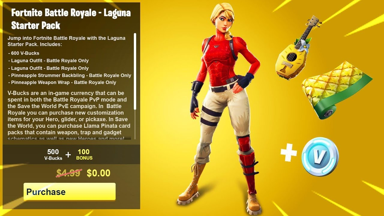 How To Get The Laguna Starter Pack For Free In Fortnite Youtube
