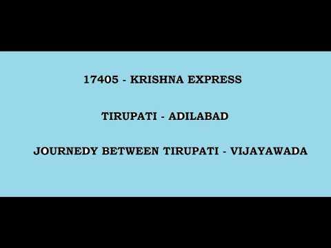 KRISHNA EXPRESS   TIRUPATI VIJAYAWADA FULL JOURNEY