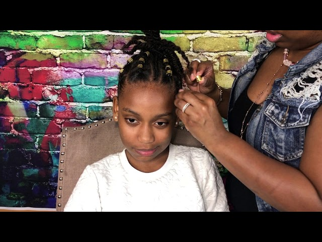 Cute kids crochet ponytail hairstyles | Ponytail updo Natural Hairstyle for Girls || Vicariously Me