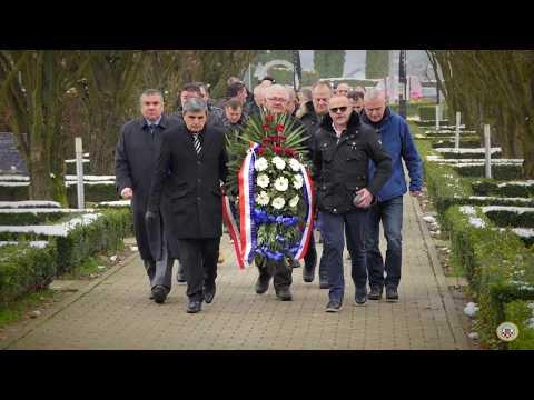 103 Brigada HVO Derventa   Polaganje vijenaca 24 3 2018