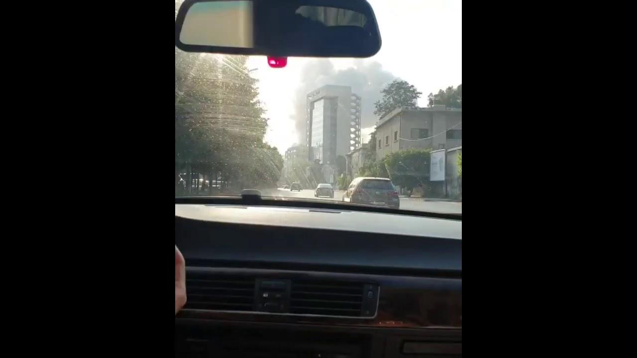 Moment of Beirut Blast Captured on Video Inside Car Traveling Towards Port Area