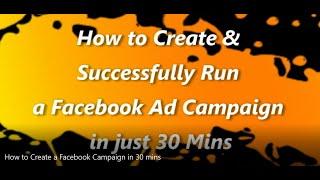 Wie zu Erstellen und Erfolgreich eine Facebook Ad-Kampagne in nur 30 Minuten Hindi