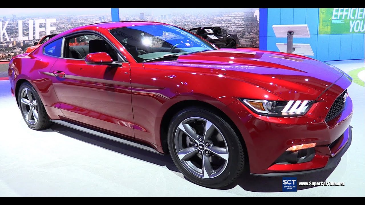 2016 ford mustang v6 coupe exterior and interior walkaround 2015 la auto show youtube for 2015 mustang interior dimensions