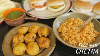 How To Make Vada Pav - Indian Style Vegetarian Burgers With Chetna Makan - Food With Chetna