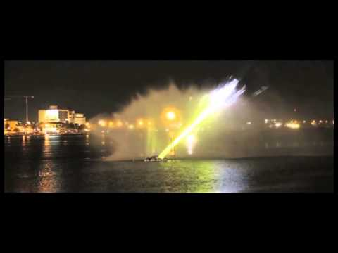 GEMA | Waterscreen Projection | Luanda, Angola