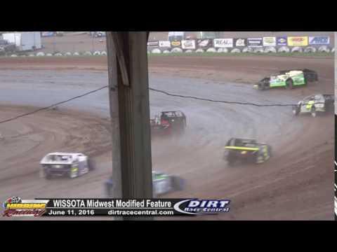 Hibbing Raceway 6/11/16 Midwest Mod Feature Kinter & Saurer