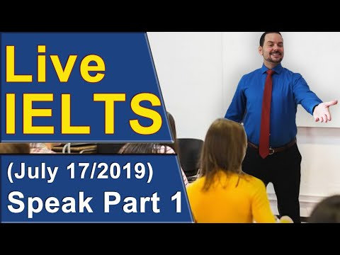 IELTS Live - Speaking Part 1 - Questions Answers Practice