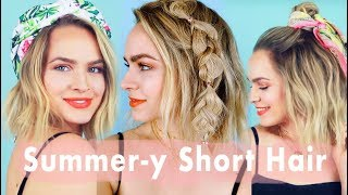 Summer Inspo for Short Hair 🌴Hairstyle Tutorial