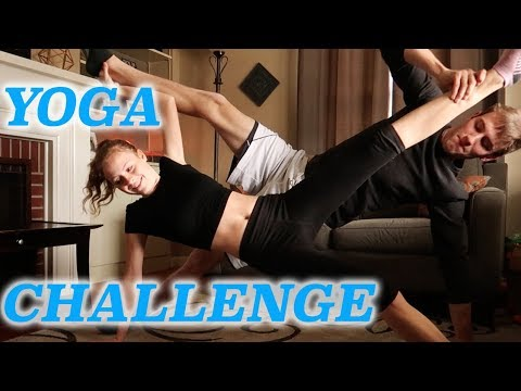 almost broke her leg in couples yoga pose challenge