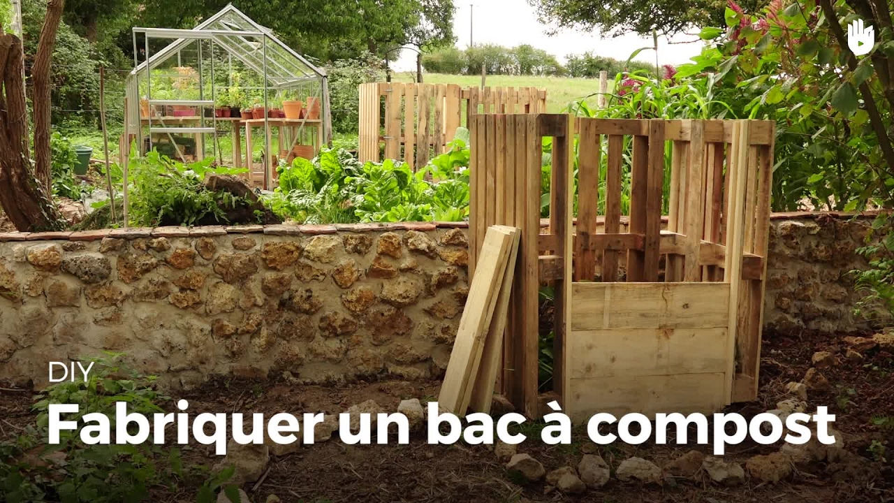 fabriquer un bac compost compost diy youtube. Black Bedroom Furniture Sets. Home Design Ideas