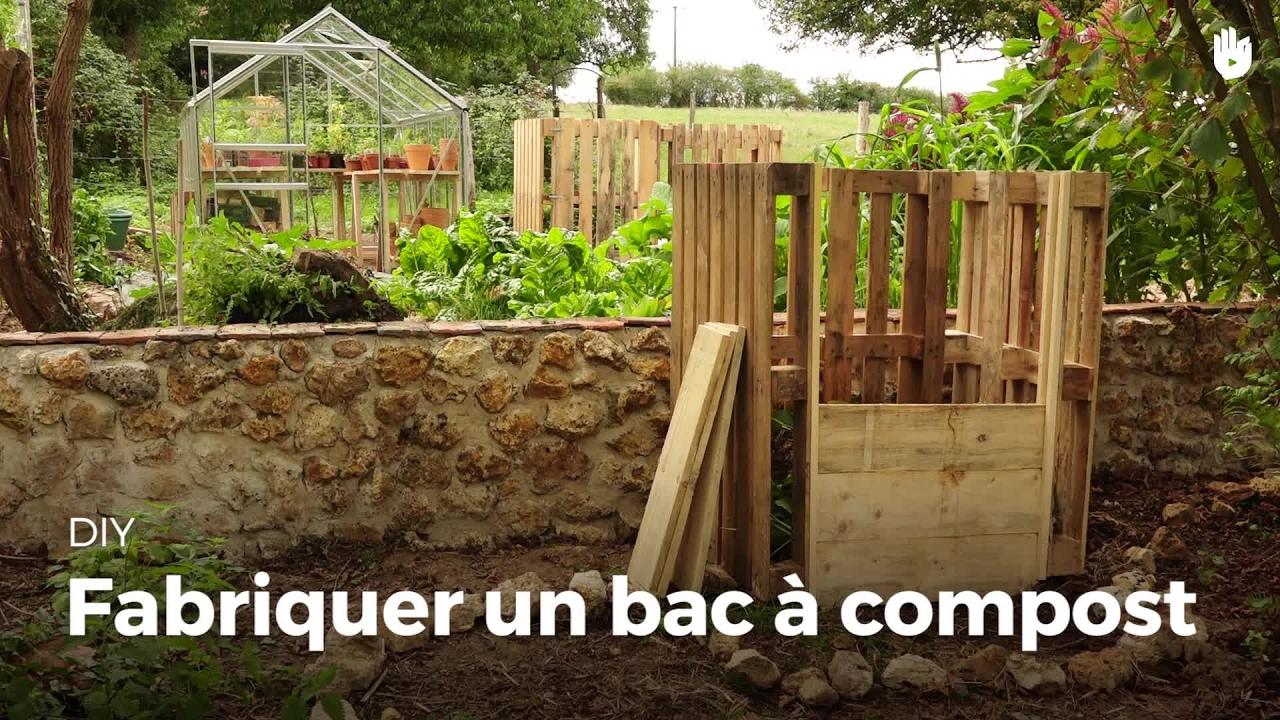 Fabriquer Un Composteur Avec Des Palettes fabriquer un bac à compost | compost diy