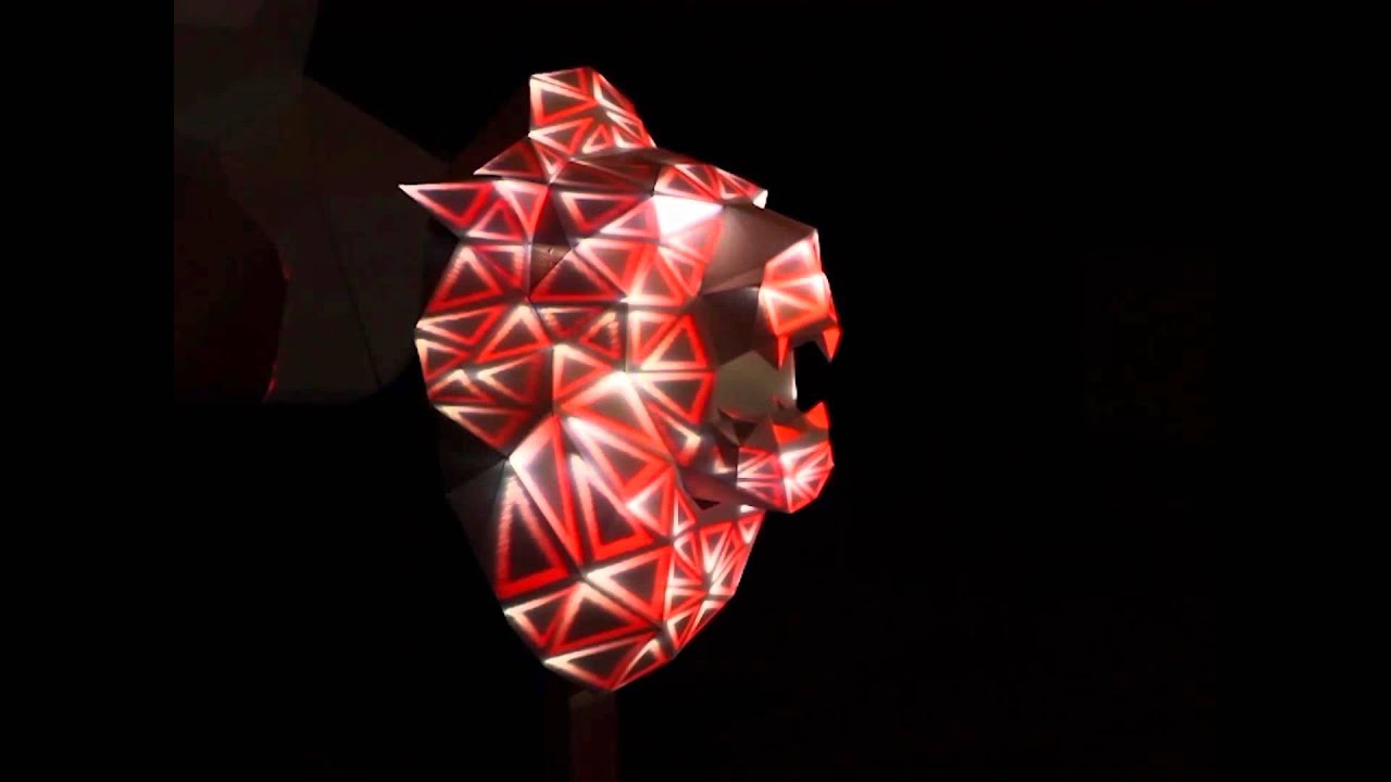Papertrophy Heavym X Papertrophy Projection Mapping On Lion Youtube