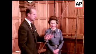 THE QUEEN AND PRINCE PHILIP AT BALMORAL - COLOUR