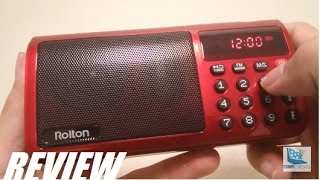 REVIEW: Rolton T50 FM Radio Digital Music Player