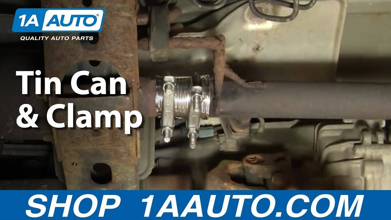How To Temporarily Fix Exhaust Leak Tin Can Amp Clamps