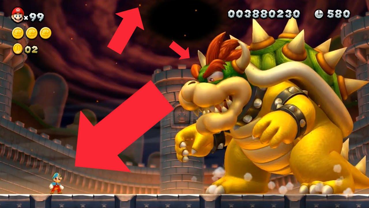 New Super Mario Bros U PS4 HD Remake - Final Bowser Battle Improvement