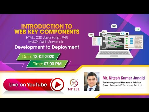 LIVE_Introduction To Web Key Components Like HTML, CSS, Java Script, PHP Etc.