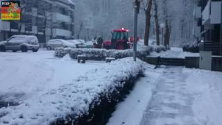 Первый снег в Германии. Минута будней. 02.01.2017