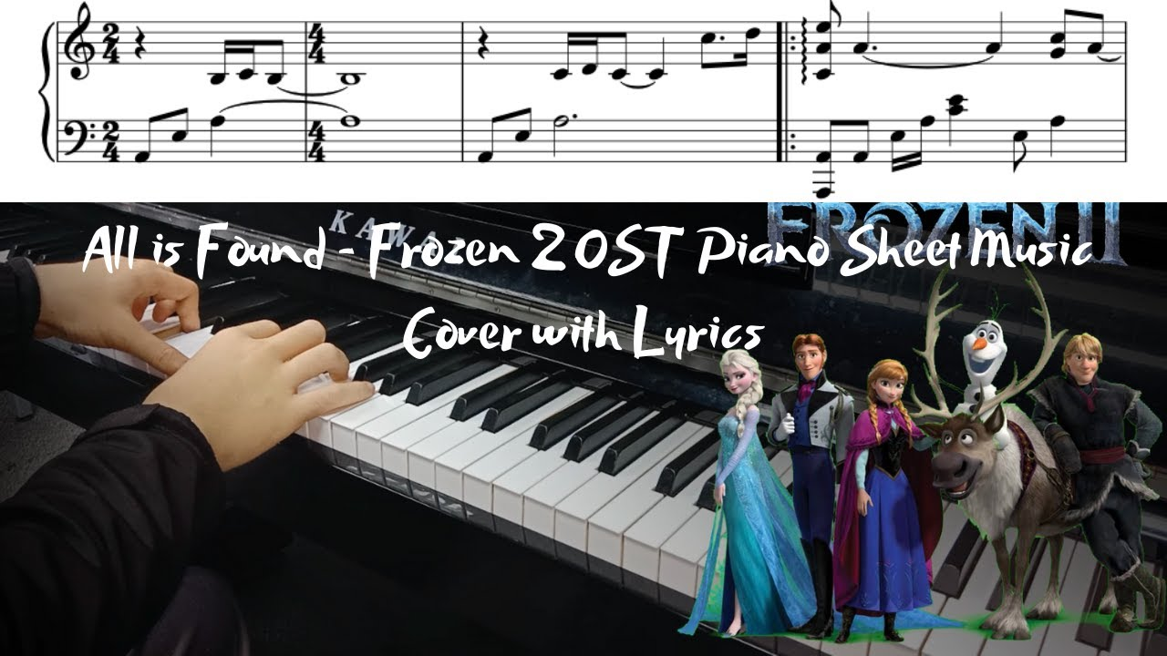 All Is Found Frozen 2 Ost Piano Sheet Music Cover Lyrics Youtube