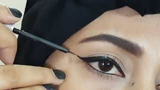 Wing eyeliner // how to apply perfect wing eye liner for begginers | zainabnuman